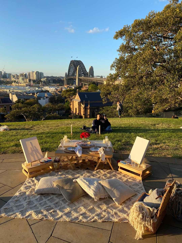 Romantic picnic in Sydney