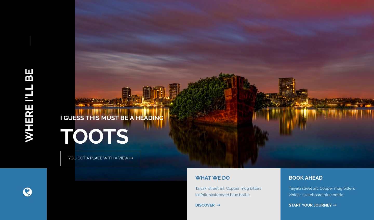 Toots Website Home Page Banner