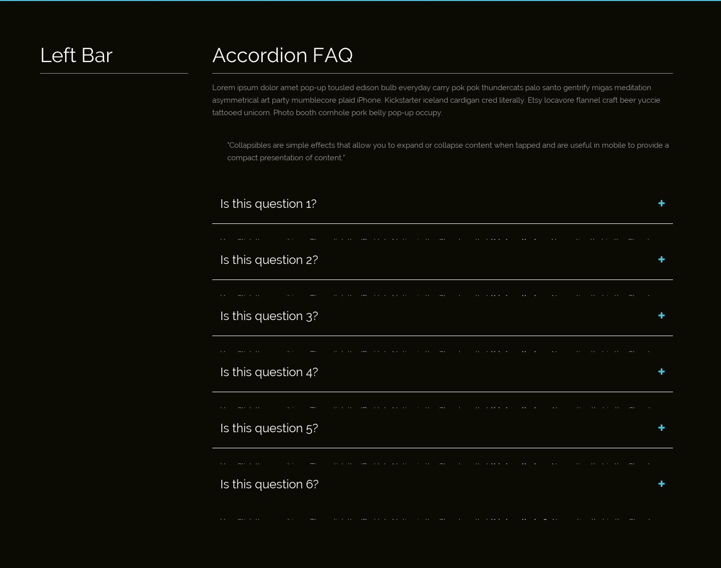 Motion FSQ Side Bar