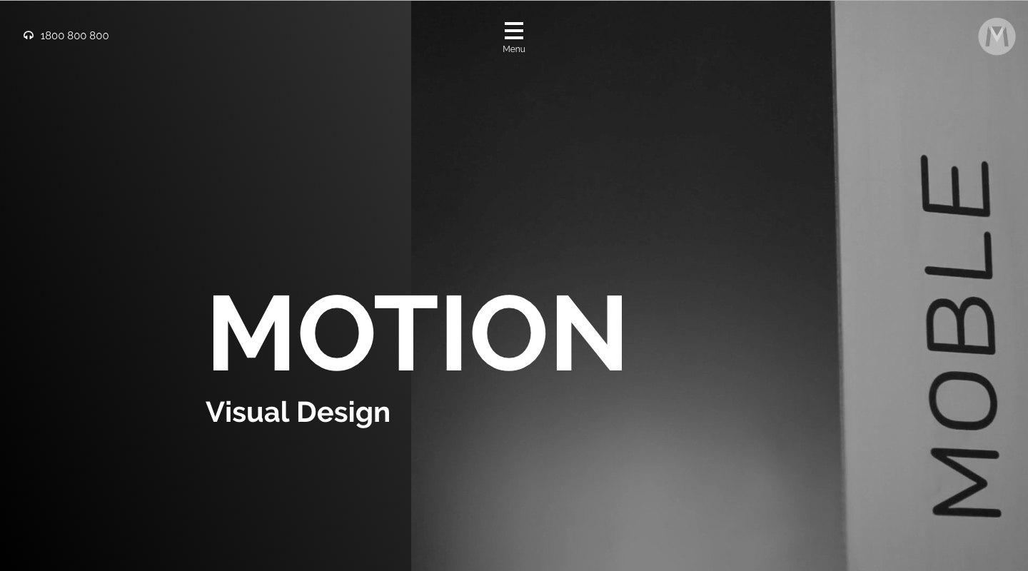 Motion Website Home Page Banner