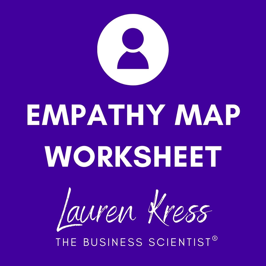 Grab your free customer empathy map template here