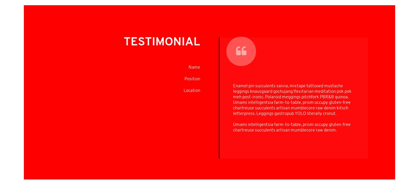 Effie Testimonials Card