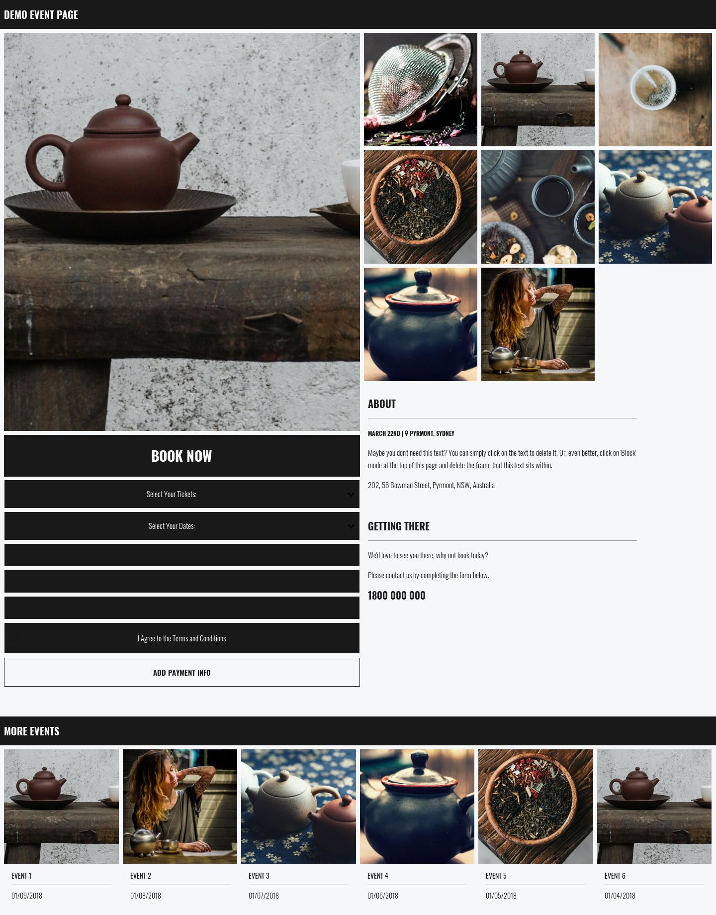 Rupie Event Page
