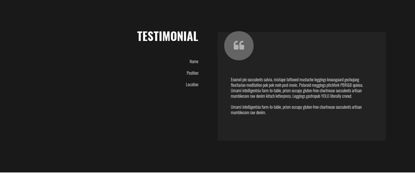 Rupie Testimonial Section