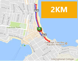 Manly Fun Run 2km Route