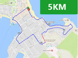 Manly Fun Run 5km Route