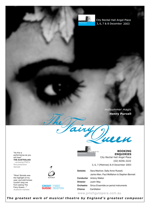 The Fairy Queen A3 Poster