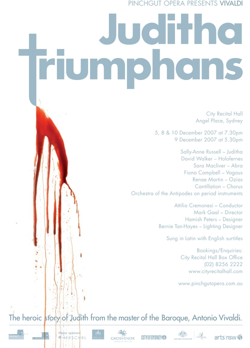 Juditha Triumphans Poster