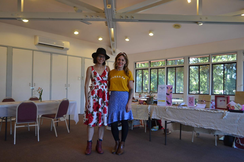 Georgia and Rachel at SeeChange Festival 2019