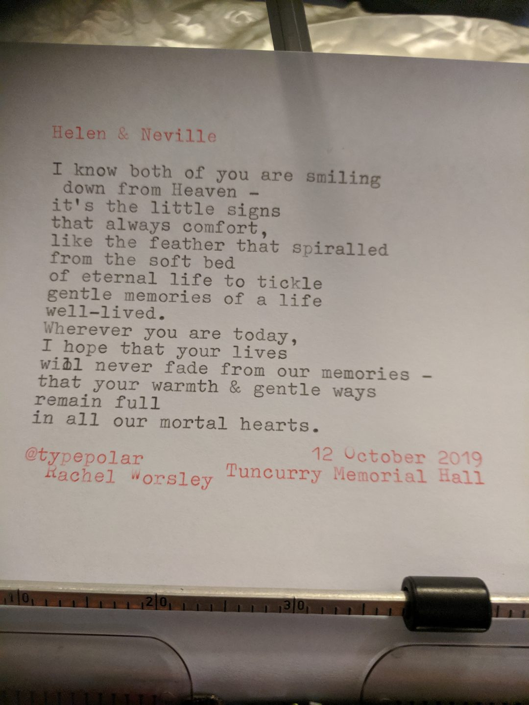 Helen and Neville Poem