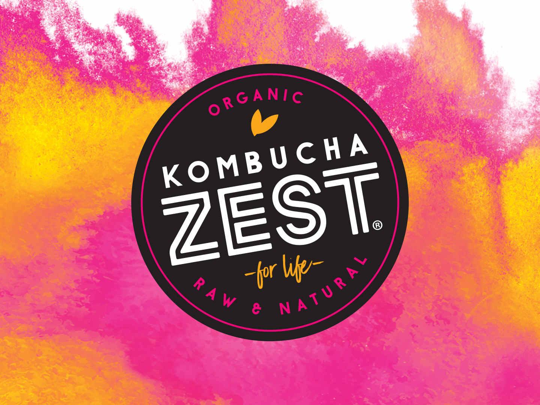 Kombucha Zest Logo design