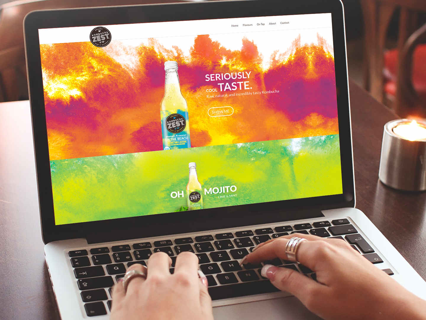 Kombucha Zest Website design