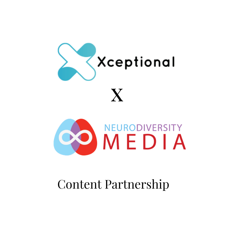 Xceptional logo and Neurodiversity Media logo content partnership