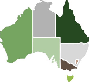 Map of States of Australia