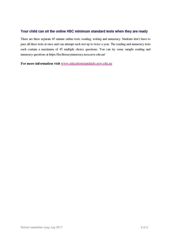 newsletter week 2 term 3 2017 lakes grammar