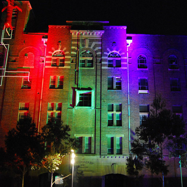 BoscoLighting lights up BEAMS festival in Sydney with vivid lighting effects