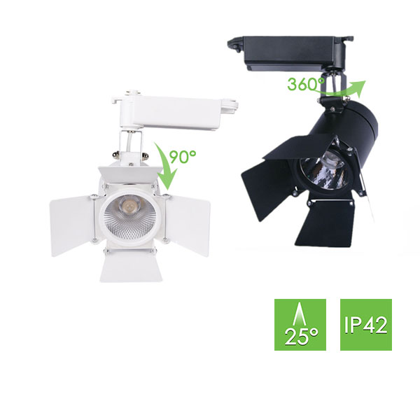 ME260 Track Light with Barn Doors, 10W