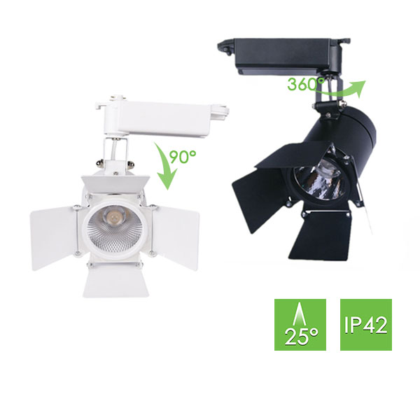 ME260 Track Light with Barn Doors, 20W