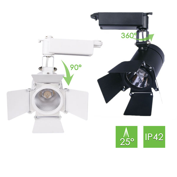 ME260 Track Light with Barn Doors, 30W