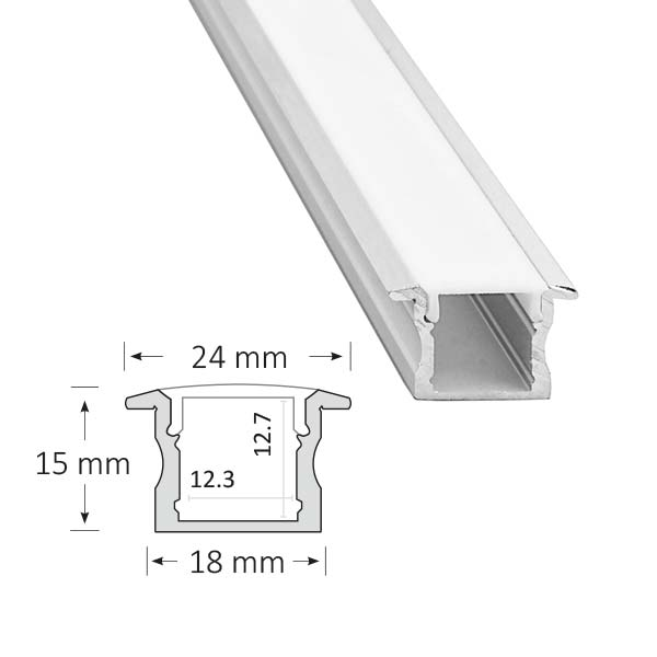 Low Profile Recessed Extrusion, 003-R