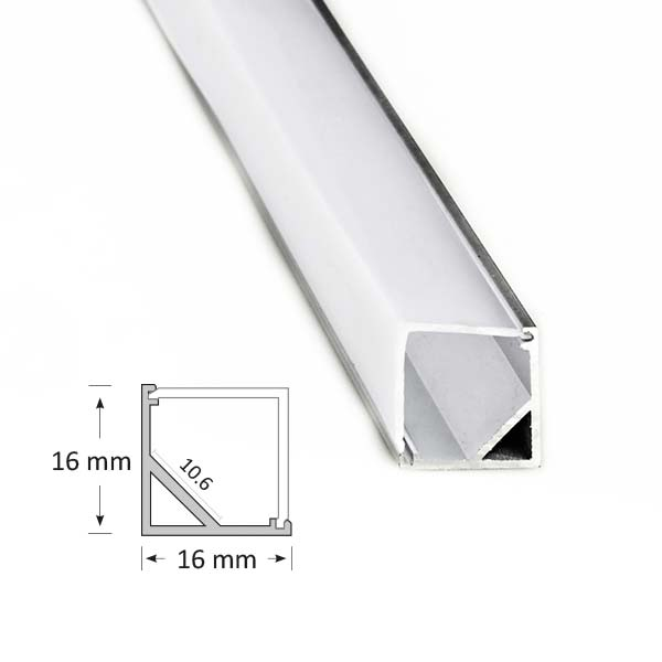 Corner Extrusion with Angled Diffuser, 005