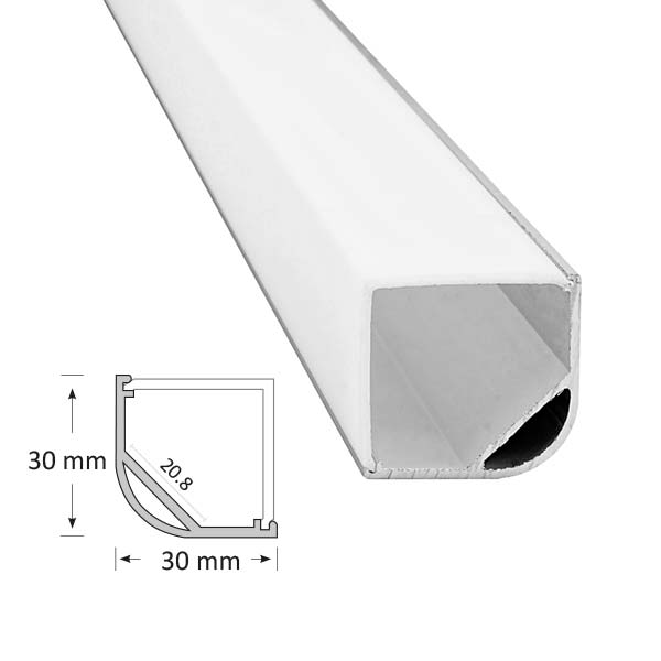 Corner Extrusion with Angled Diffuser, 015
