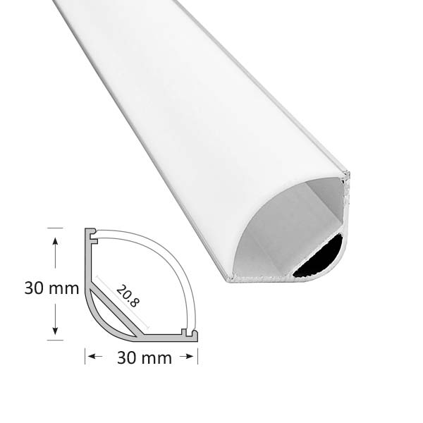 Corner Extrusion with Curved Diffuser, 016