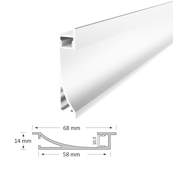 Recessed Extrusion as Wall Light, 023-R