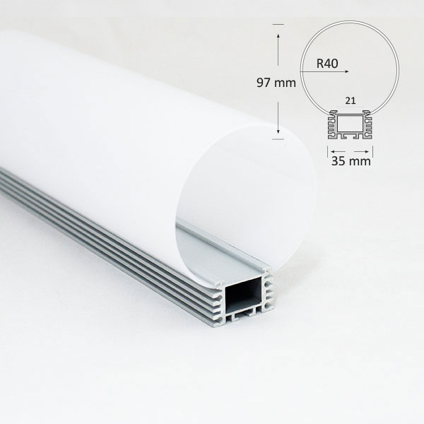 Medium Tubular Diffuser Extrusion, 064B