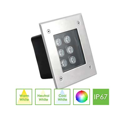 IGS1 Square Inground Light, 6W