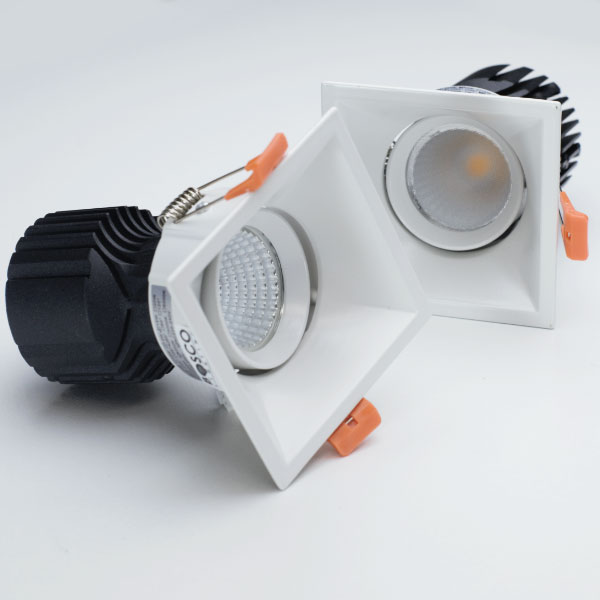 WAS Adjustable Square Downlight, 15W