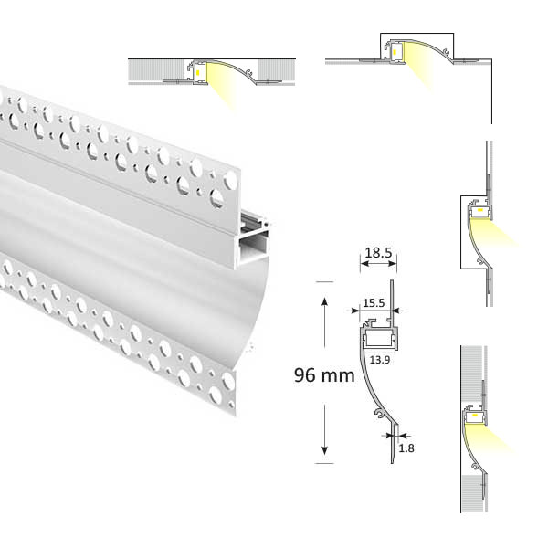 Cove Lighting Trimless Extrusion, TL014