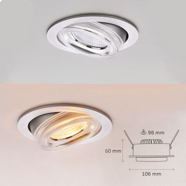 8W LED Downlights for High-end Residential