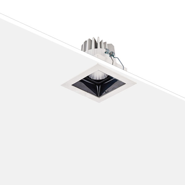 Square downlight with black reflector