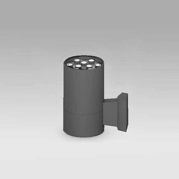 Exterior Cylindrical Wall Light, 9W
