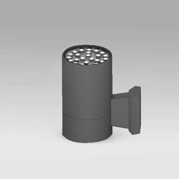 Exterior Cylindrical Wall Light, 24W