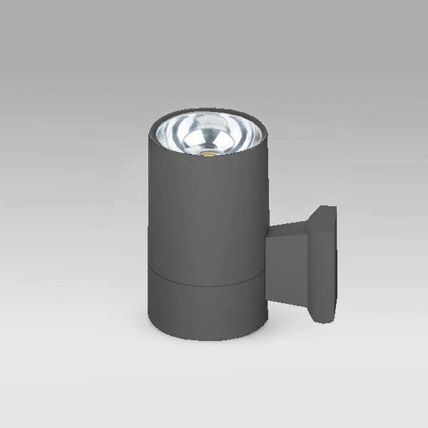 Exterior Cylindrical COB Wall Light, 30W