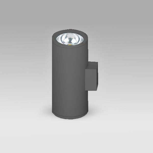 Exterior Updown COB Cylindrical Wall Light, 30Wx2