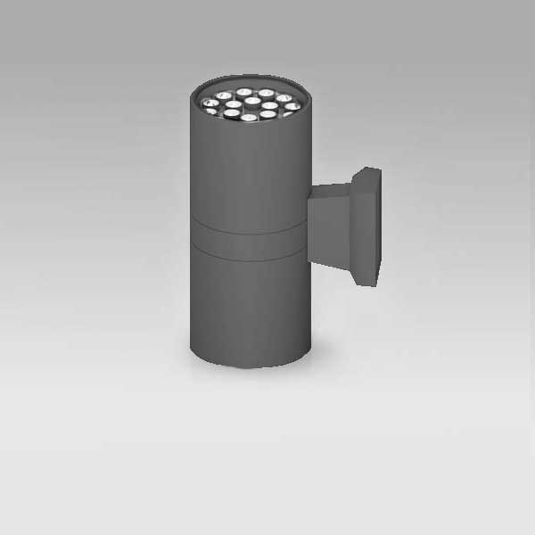 Exterior Up/Down Cylindrical Wall Light, 18Wx2