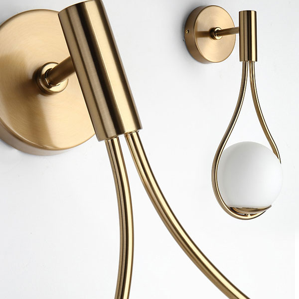 ORB Wall Sconce with Teardrop Shape