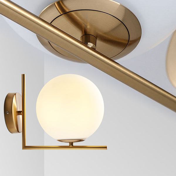 ORB Wall Light with Brass Arm