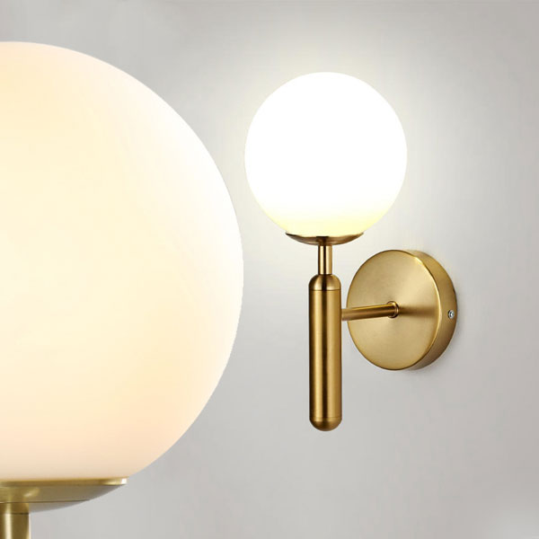 ORB Glass Wall Sconce with Torch Shape