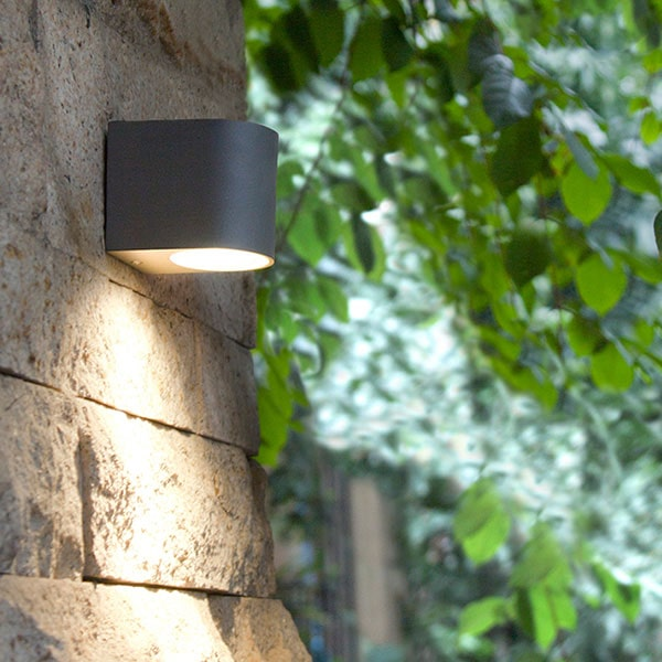 Outdoor down only wall light