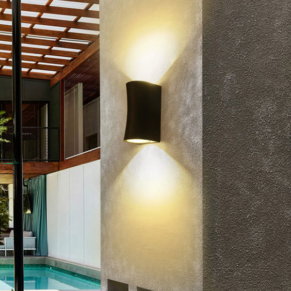Outdoor Curved Updown Wall Lights