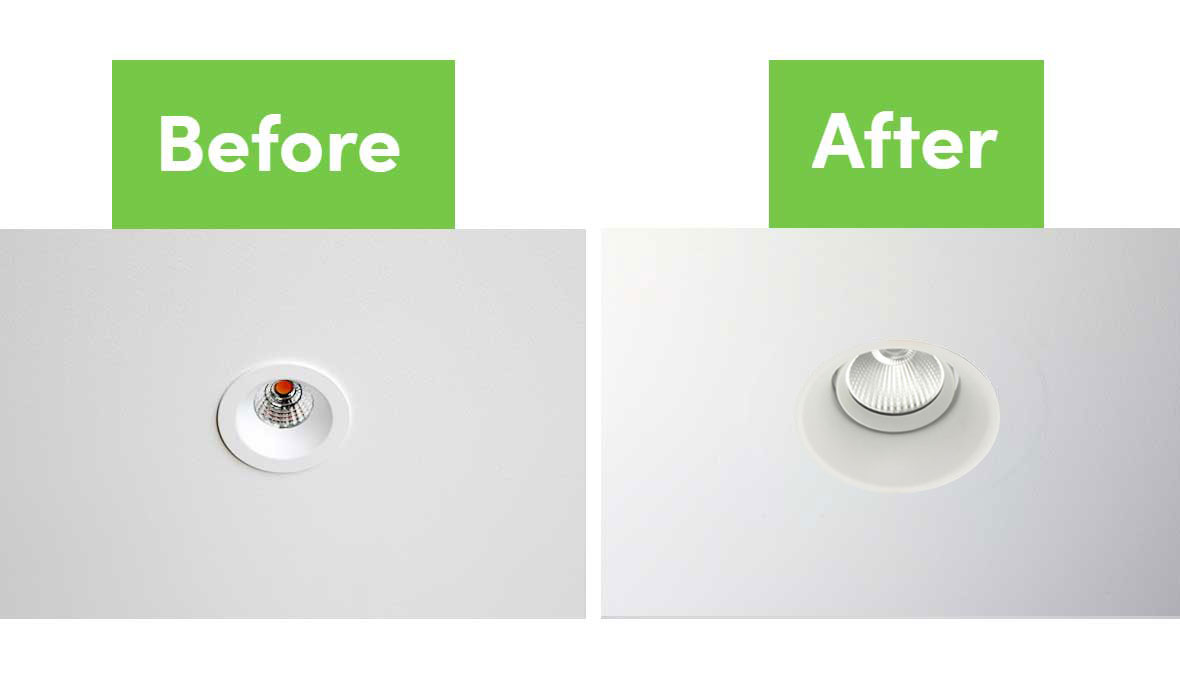 WAJ2 Flush Mount Kit before and after