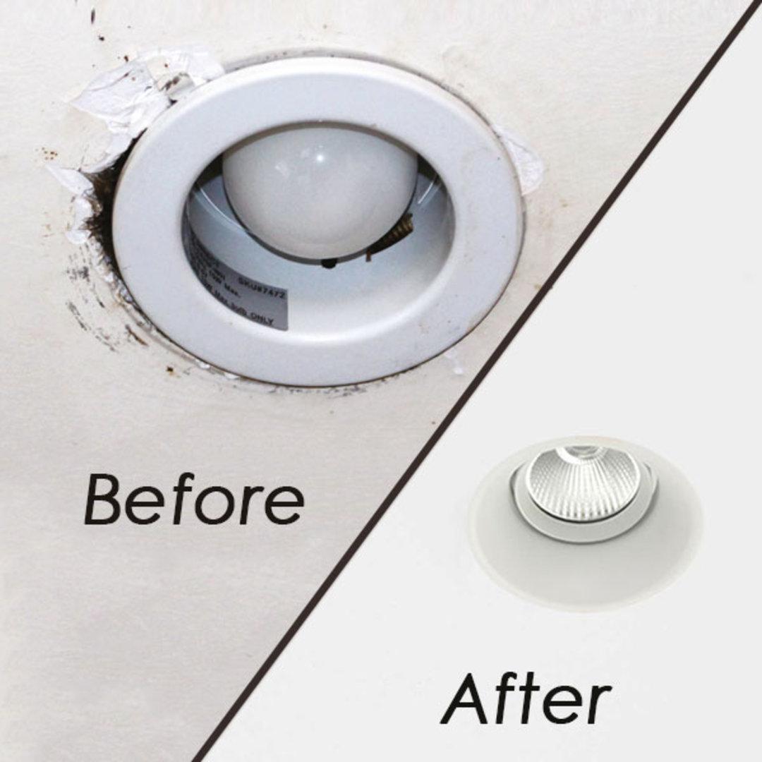 Downlight Hole Too Big? Downlight Resizing Kits Reduce and Repair Holes