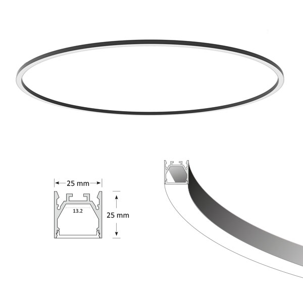 ORBIT Slim Circular Pendant Light, D1800mm
