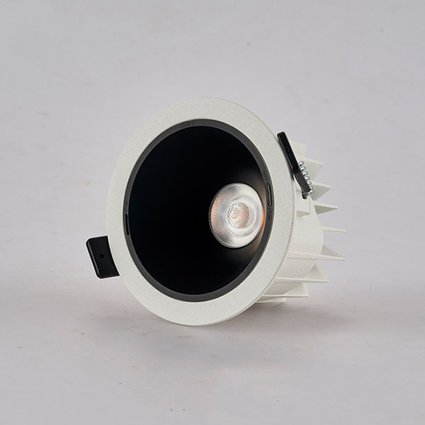 Ariel waterproof downlight with black reflector