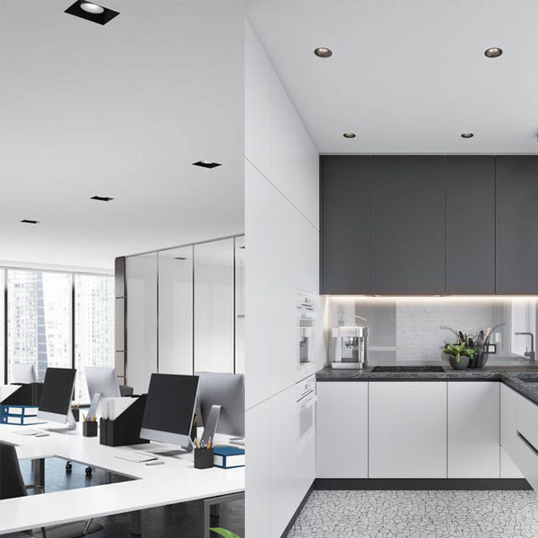 Low Glare Downlights with Black Reflector