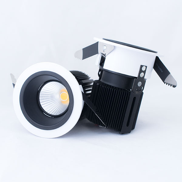 A1 downlight with black reflector